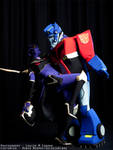 -Optimus + Arachnia Fanservice - by SeishinKibou