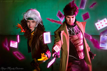 -Rogue + Gambit I- by SeishinKibou