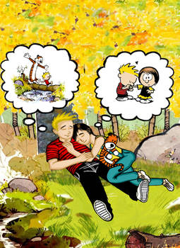 Calvin and Hobbes grown up