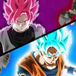 Goku (SSGB) VS Black (SSGR) - Battle Screen