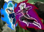 Vegetto (SSGB) VS Merged Zamasu - Fighting
