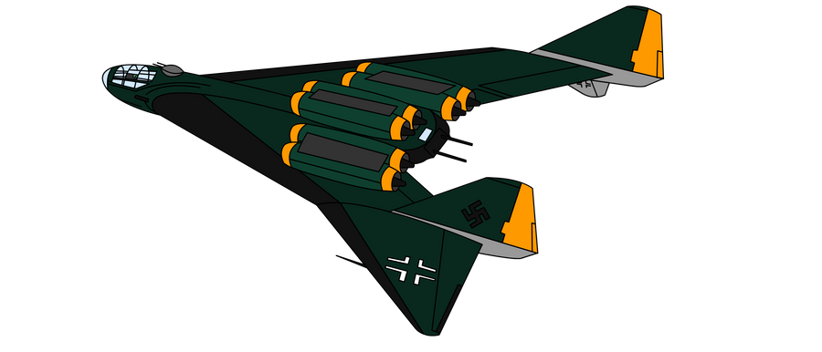 Deitreich the Arado Ar. E.555-1 Amerika Bomber by KirovRampager
