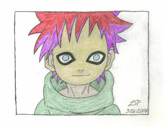 Chibi Gaara X3 - Colored by Ayano-Nara