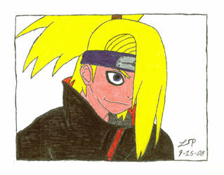 Deidara - Colored 8DDDDD by Ayano-Nara