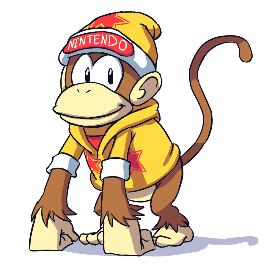 Diddy Kong Redesing by Megamario5599