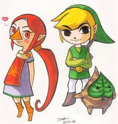 Medli Makar and Link by superdonut