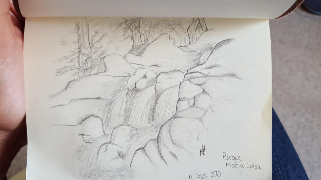 Park Waterfall by nel-izabeth