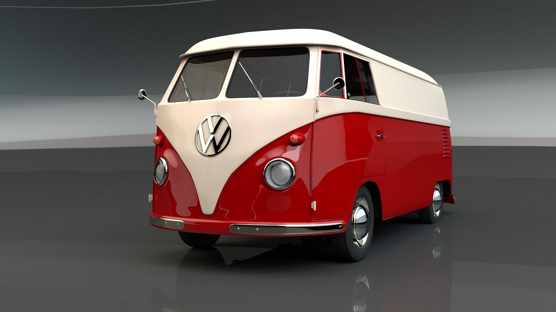 volkswagen t1 3d model by arslandad on deviantart. Black Bedroom Furniture Sets. Home Design Ideas