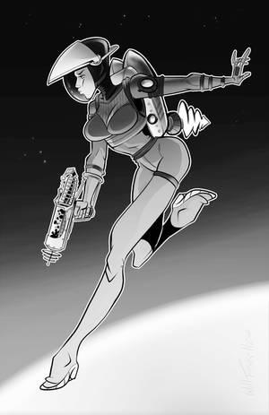 Steampunk Astronaut Pinup