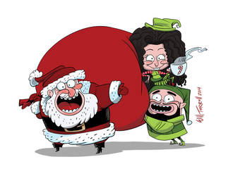 Santa's little Helpers by willterrell