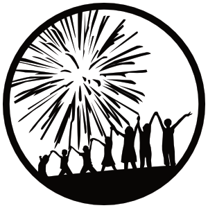 Celebration, FL Logo (1 inch x 1 inch) by Artful-Science