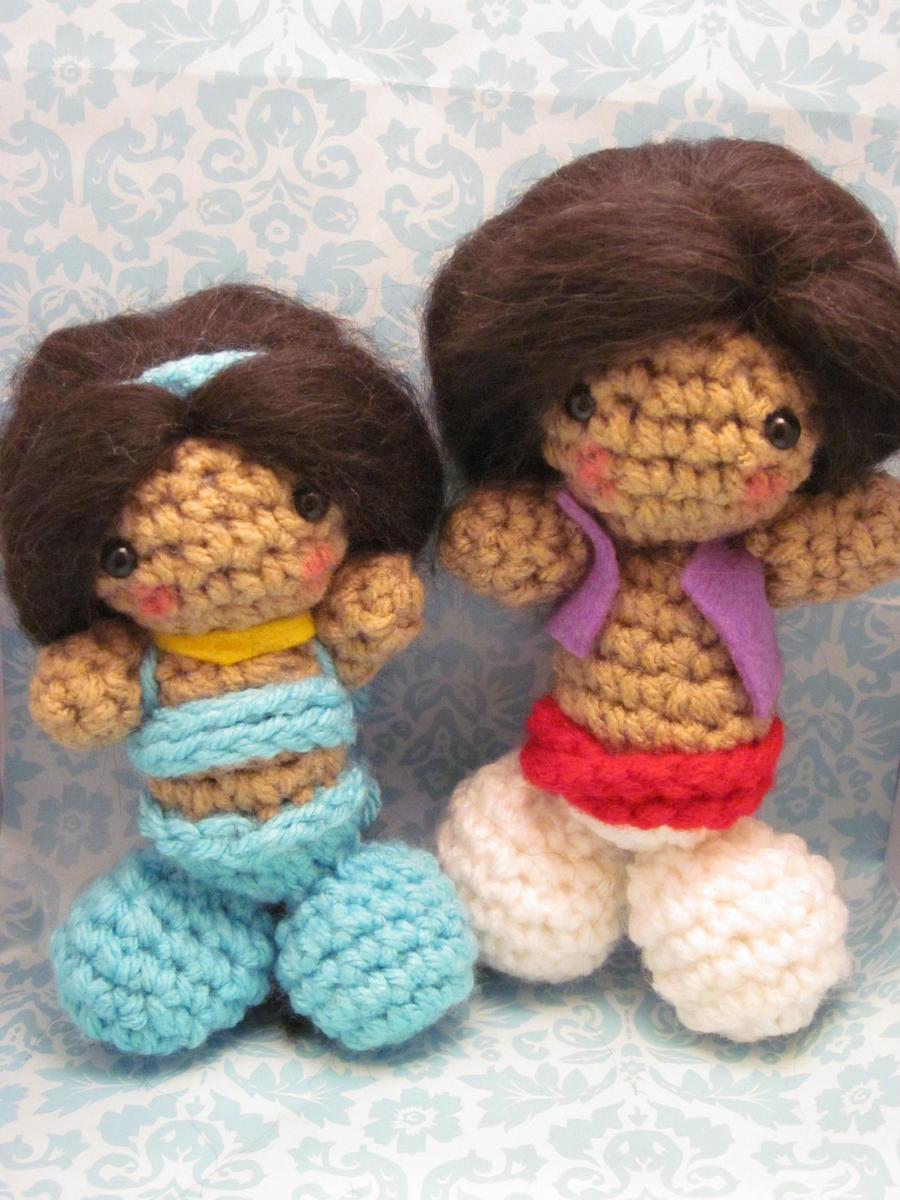 Amigurumi Join : Jasmine and Aladdin Amigurumi by Spudsstitches on DeviantArt