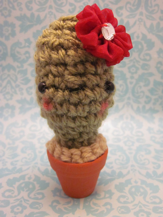 Mini Baby Cactus Amigurumi in REAL Terra Cotta Pot by ...