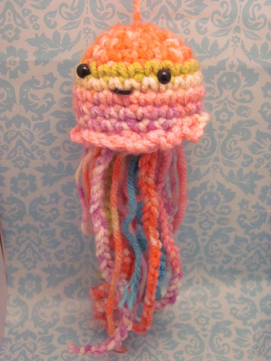 Rainbow Stripe Jellyfish Amigurumi by Spudsstitches on ...
