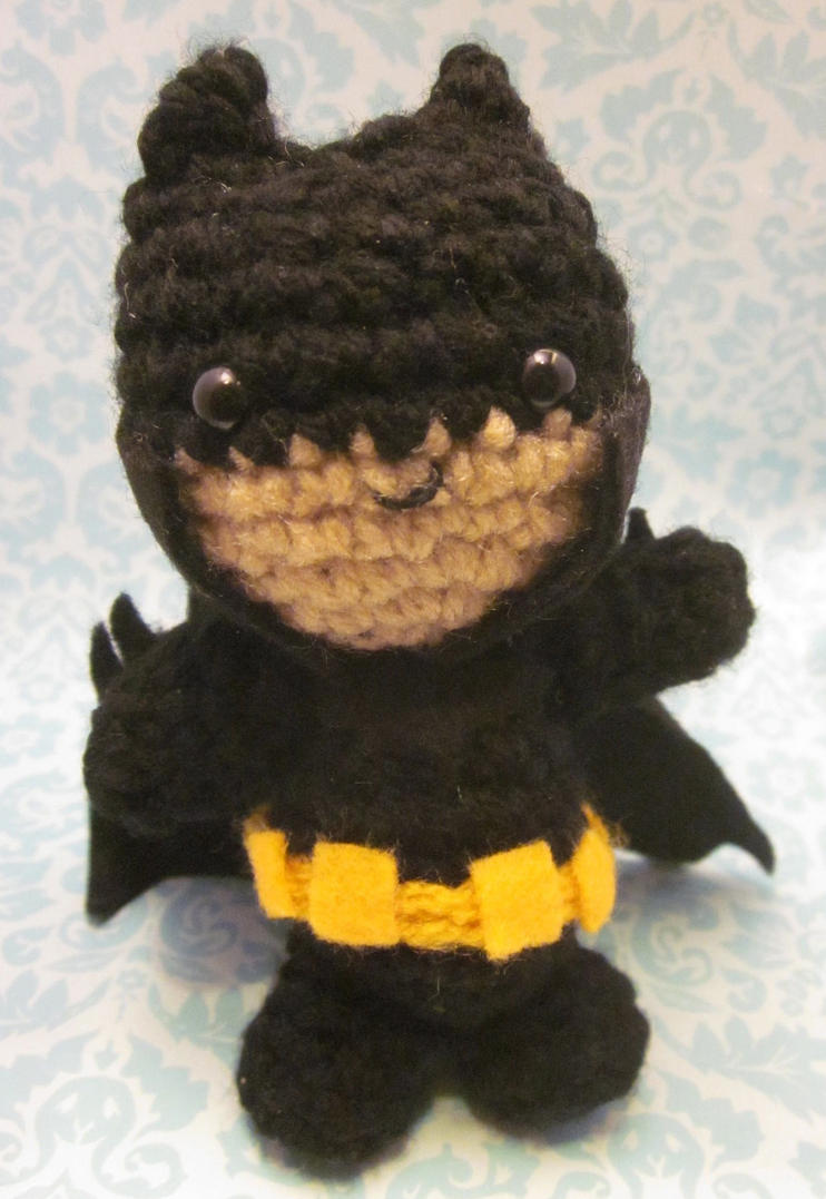 Amigurumi Crochet Batman : Wee Little Batman Amigurumi Crochet Doll by Spudsstitches ...