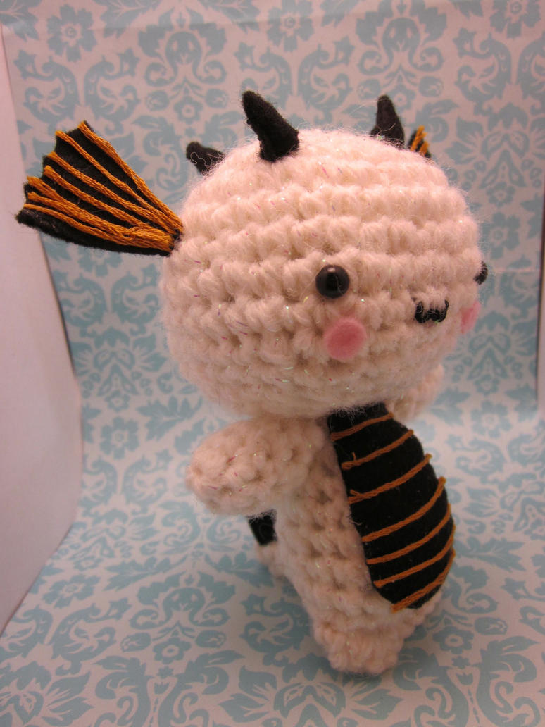 Wee Little White Dragon Amigurumi Doll by Spudsstitches