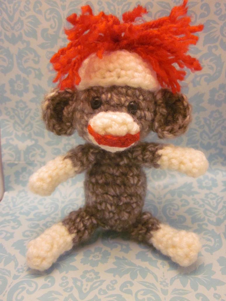 Amigurumi Crochet Sock Monkey : Wee Little Sock Monkey Amigurumi Crochet Doll by ...