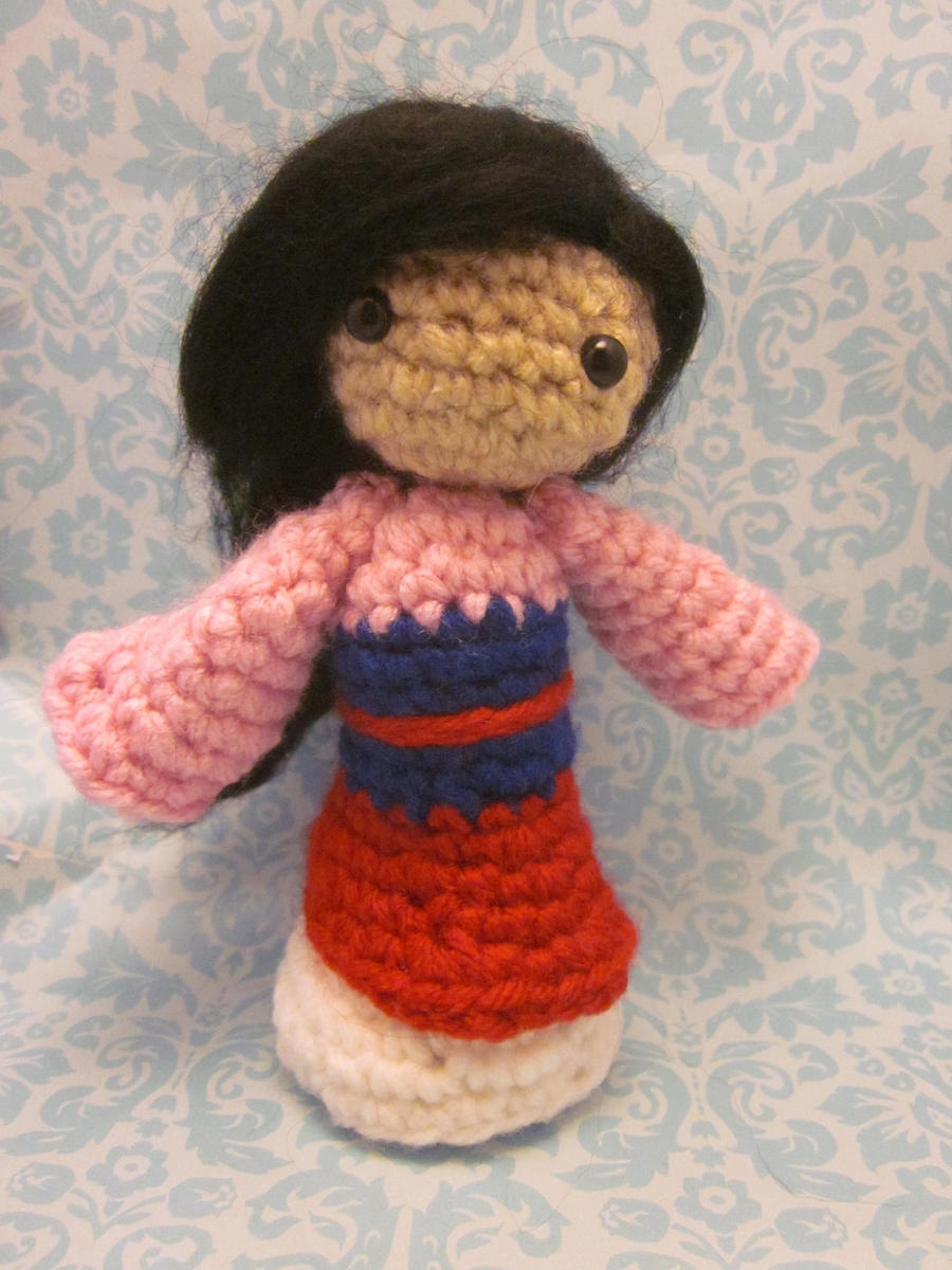 Amigurumi Disney Free Pattern : Mulan Disney Princess Amigurumi Doll by Spudsstitches on ...