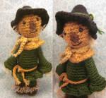 Scarecrow Wizard of Oz Amigurumi Crochet Doll