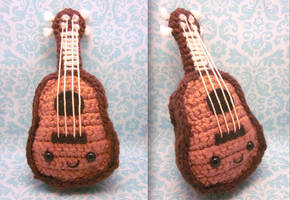 Kawaii Ukulele Amigurumi Crochet Plush by Spudsstitches