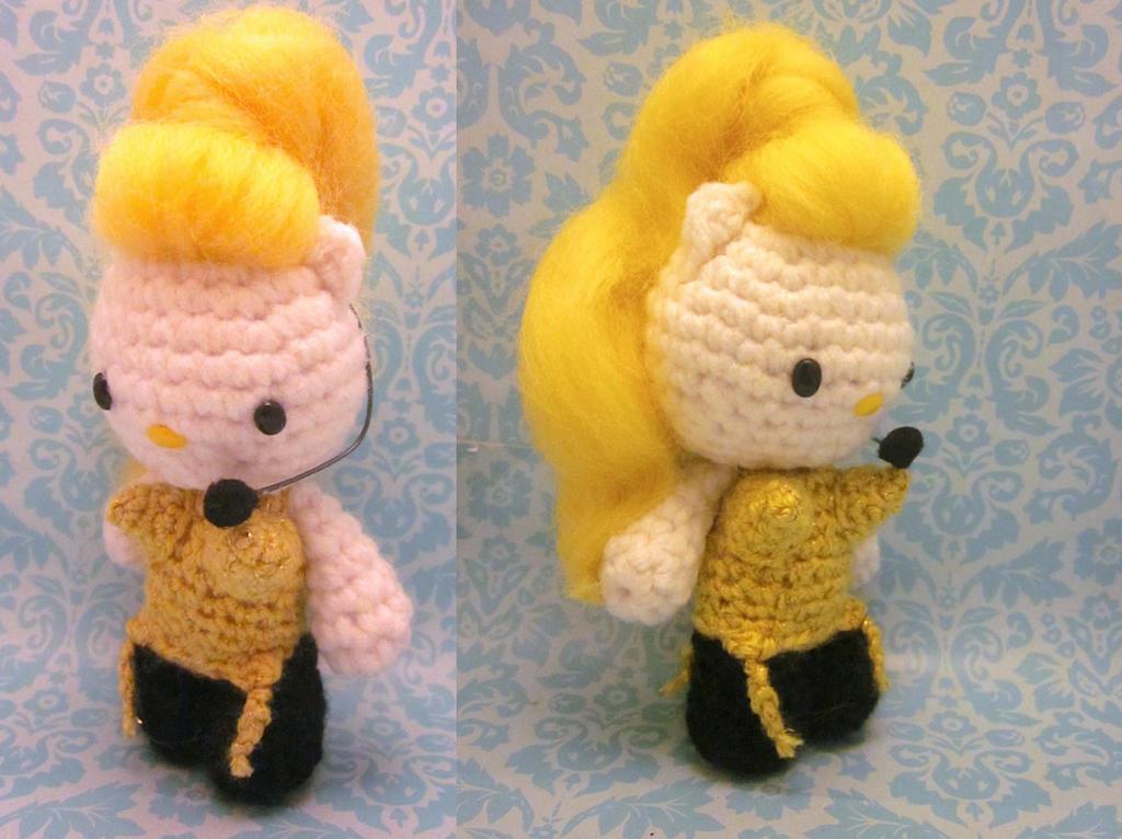 Hello Kitty Amigurumi Anleitung Deutsch : Madonna Vogue Hello Kitty Amigurumi Kawaii Doll by ...