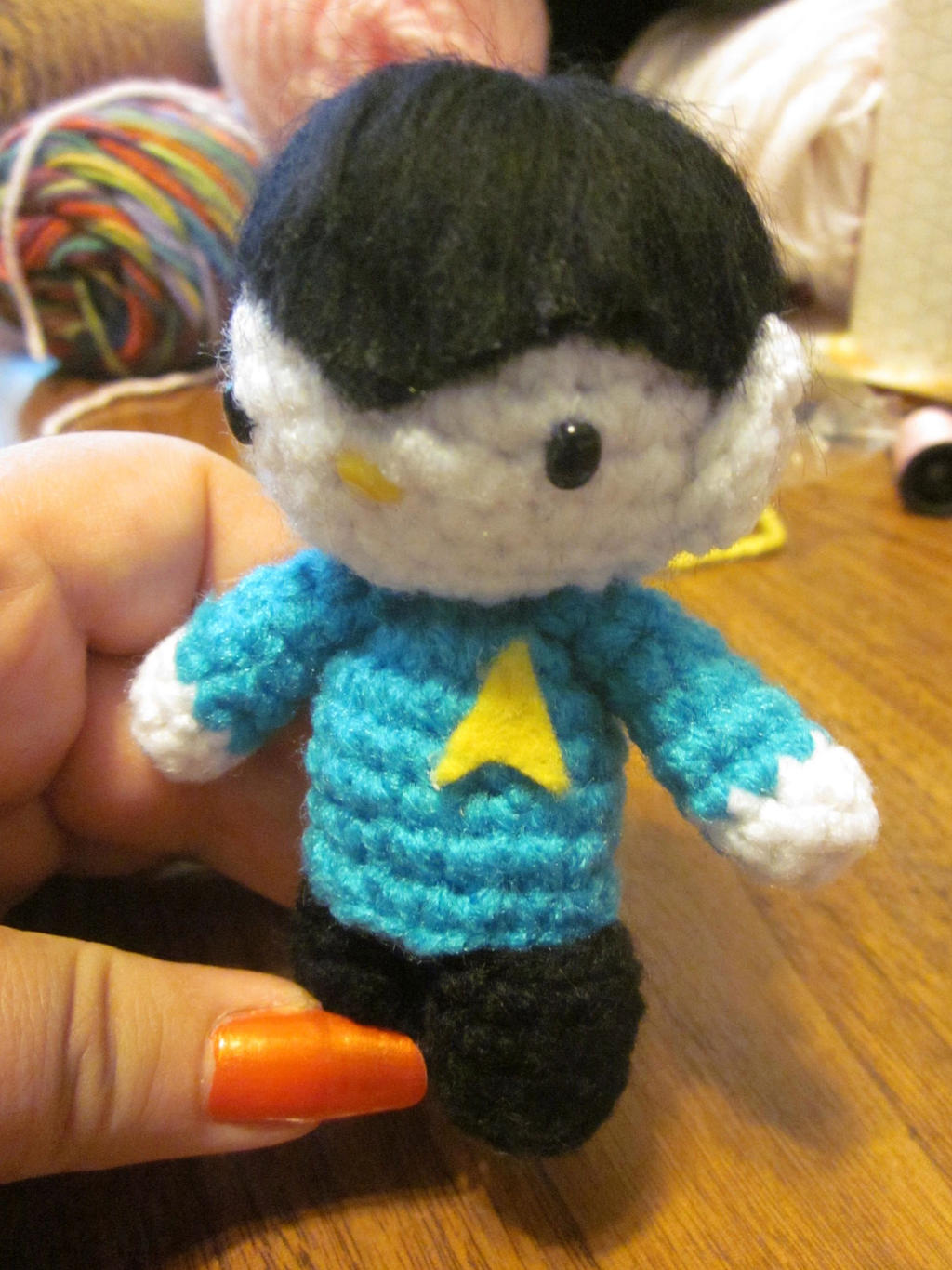 Amigurumi Star Trek : Hello Kitty Spock from Star Trek Amigurumi Crochet by ...
