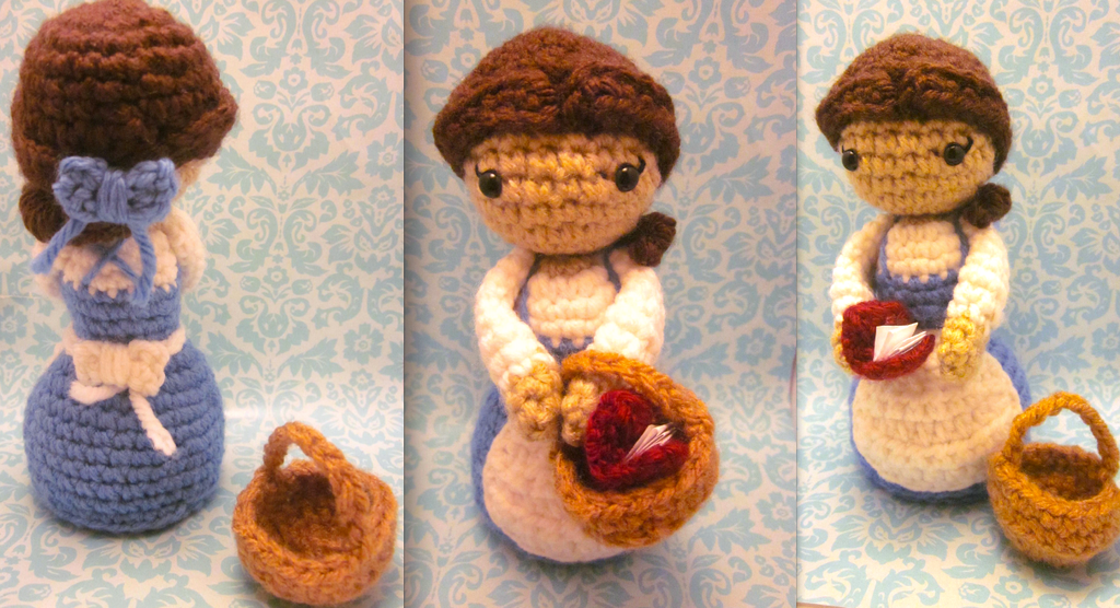 Amigurumi Disney Patterns : Belle amigurumi from disney beauty and the beast by