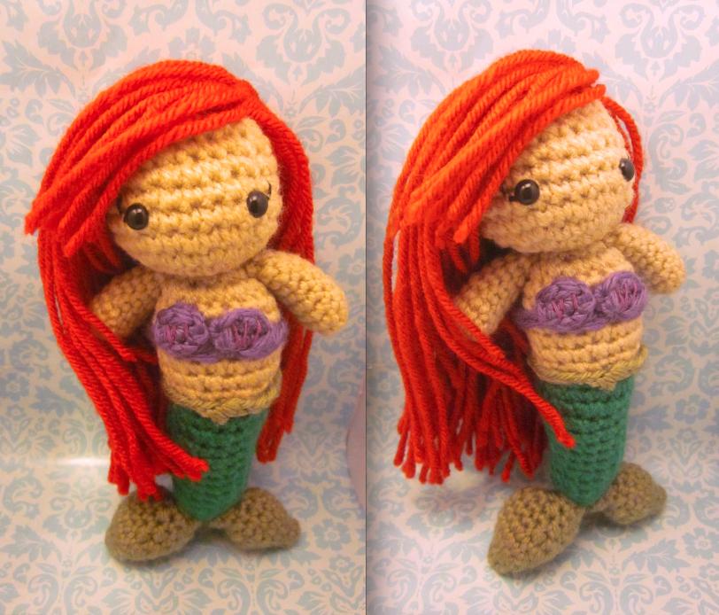 Amigurumi Little Mermaid : The Little Mermaid Ariel Amigurumi Doll by Spudsstitches ...