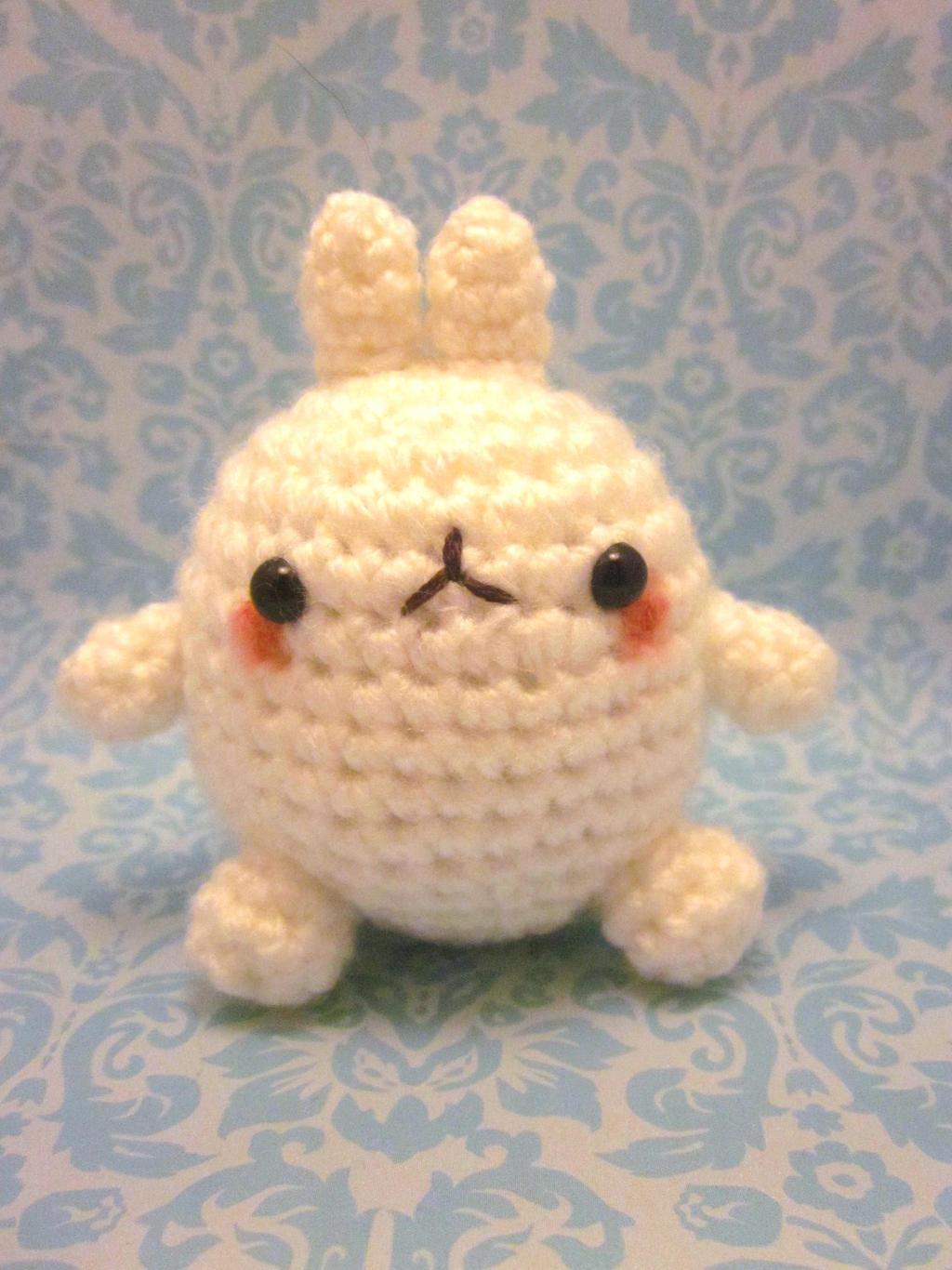 Amigurumi Cupcake Bunny : Molang the Rabbit Bunny Amigurumi Crochet Doll by ...