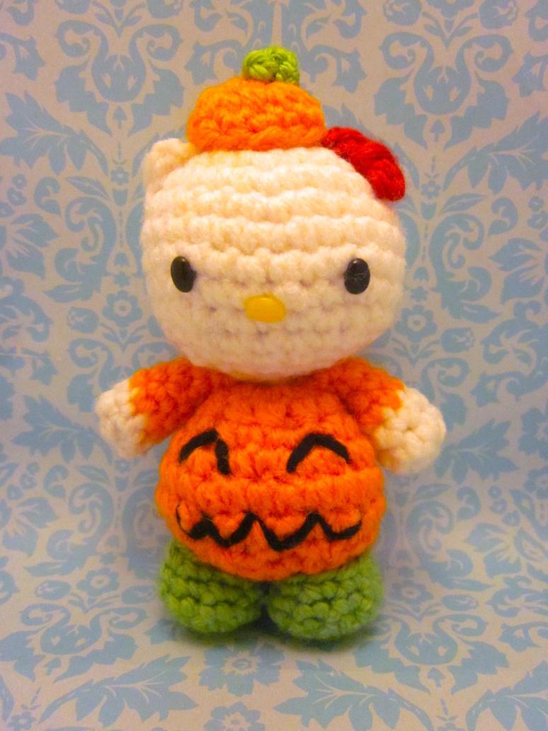 Hello Kitty Halloween Amigurumi : Halloween Jack O Lantern Hello Kitty Amigurumi1 by ...