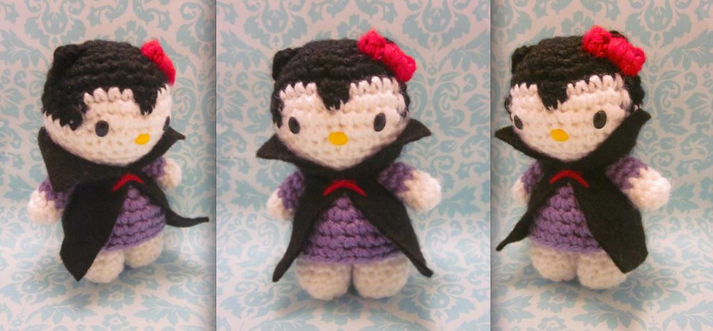 Hello Kitty Halloween Amigurumi : Halloween Vampire Dracula Hello Kitty Amigurumi by ...