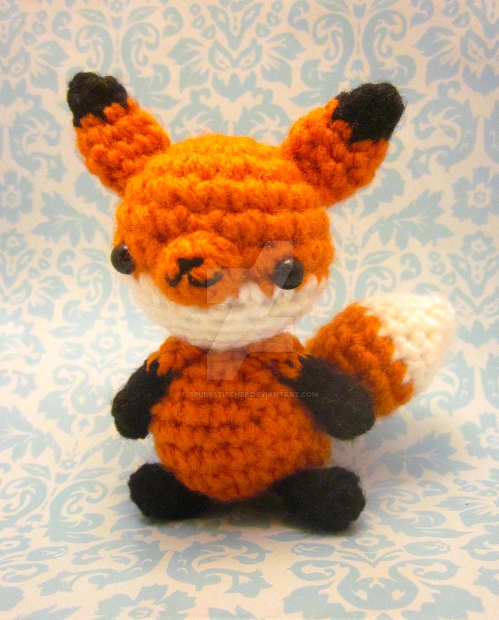 Little Fox Amigurumi : Kawaii Wee Little Fox Amigurumi by Spudsstitches on DeviantArt