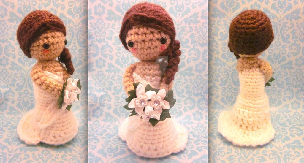 Crochet Pattern Amigurumi Cat : Bride Wedding Amigurumi Crochet Doll Set by Spudsstitches ...