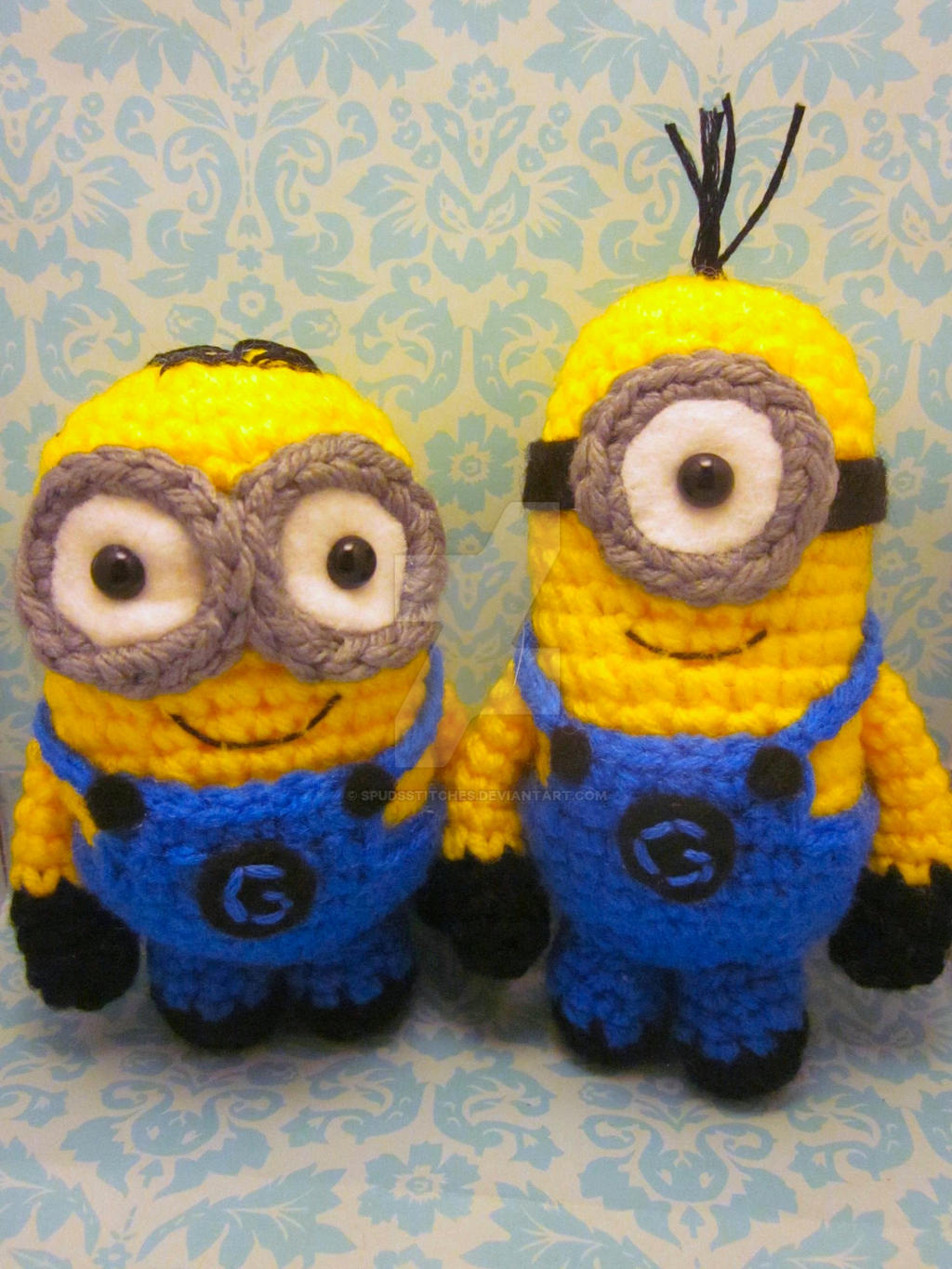 Amigurumi Free Patterns Minions : Minion Despicable Me Amigurumi Crochet Dolls by ...