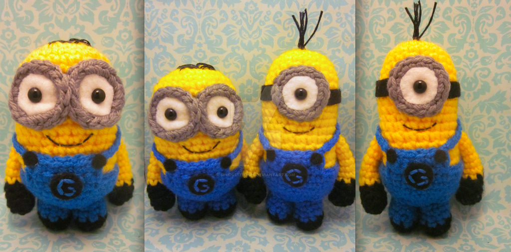 Minion Despicable Me Amigurumi Crochet Dolls1 By Spudsstitches On