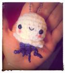 Wee Lil Sparkle Jellyfish Amigurumi Key Chain