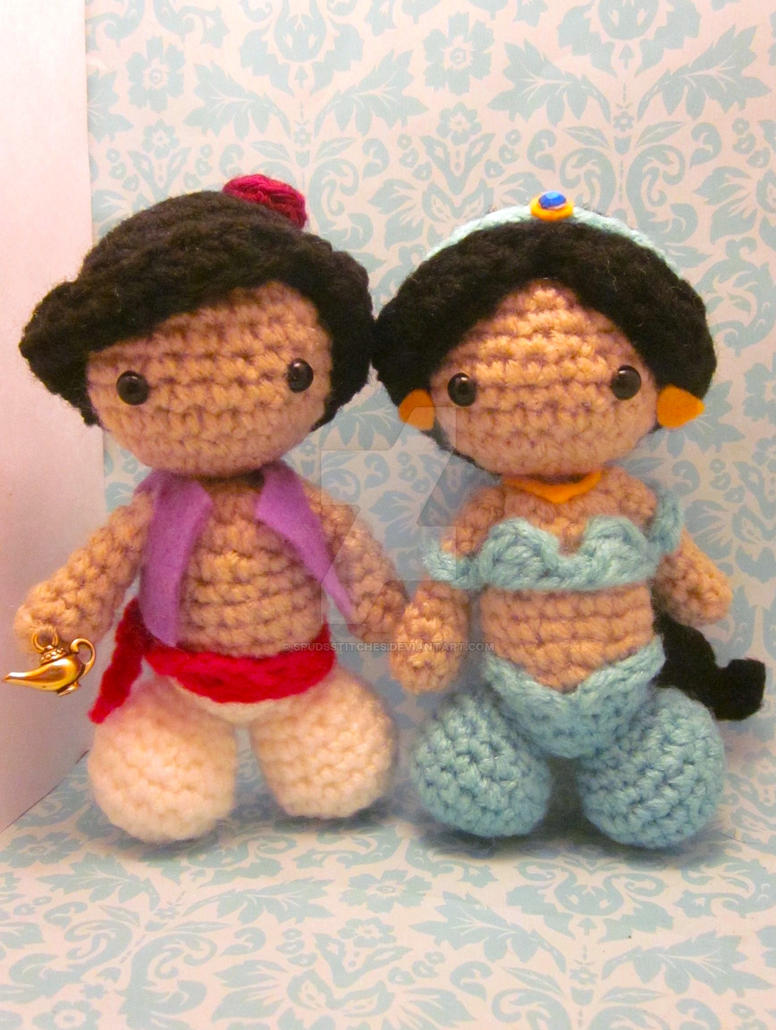 Amigurumi Join : Aladdin and Jasmine Amigurumi Doll Set by Spudsstitches on ...