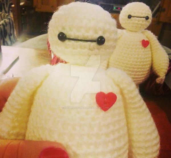 Crochet Amigurumi Baymax Pattern : Baymax Big Hero 6 Amigurumi Crochet Doll Two Dolls by ...