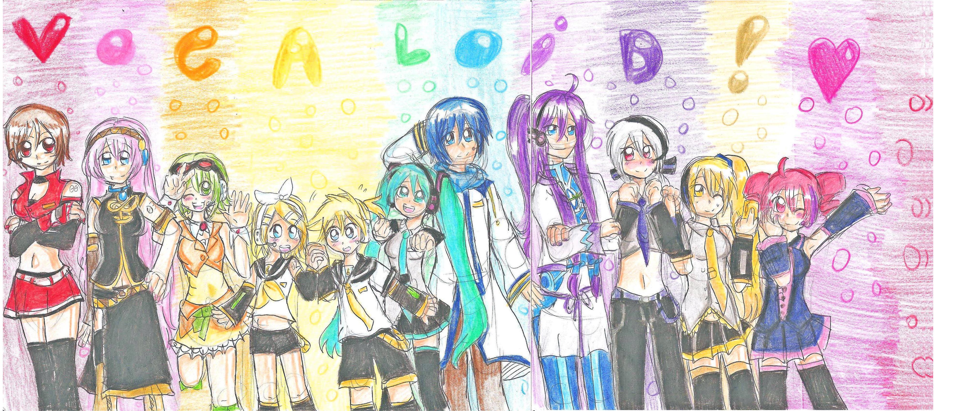 Vocaloid Chibi Group Wallpaper Anime Vocaloid Group