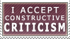 Constructive Criticism :stamp: by kchuu