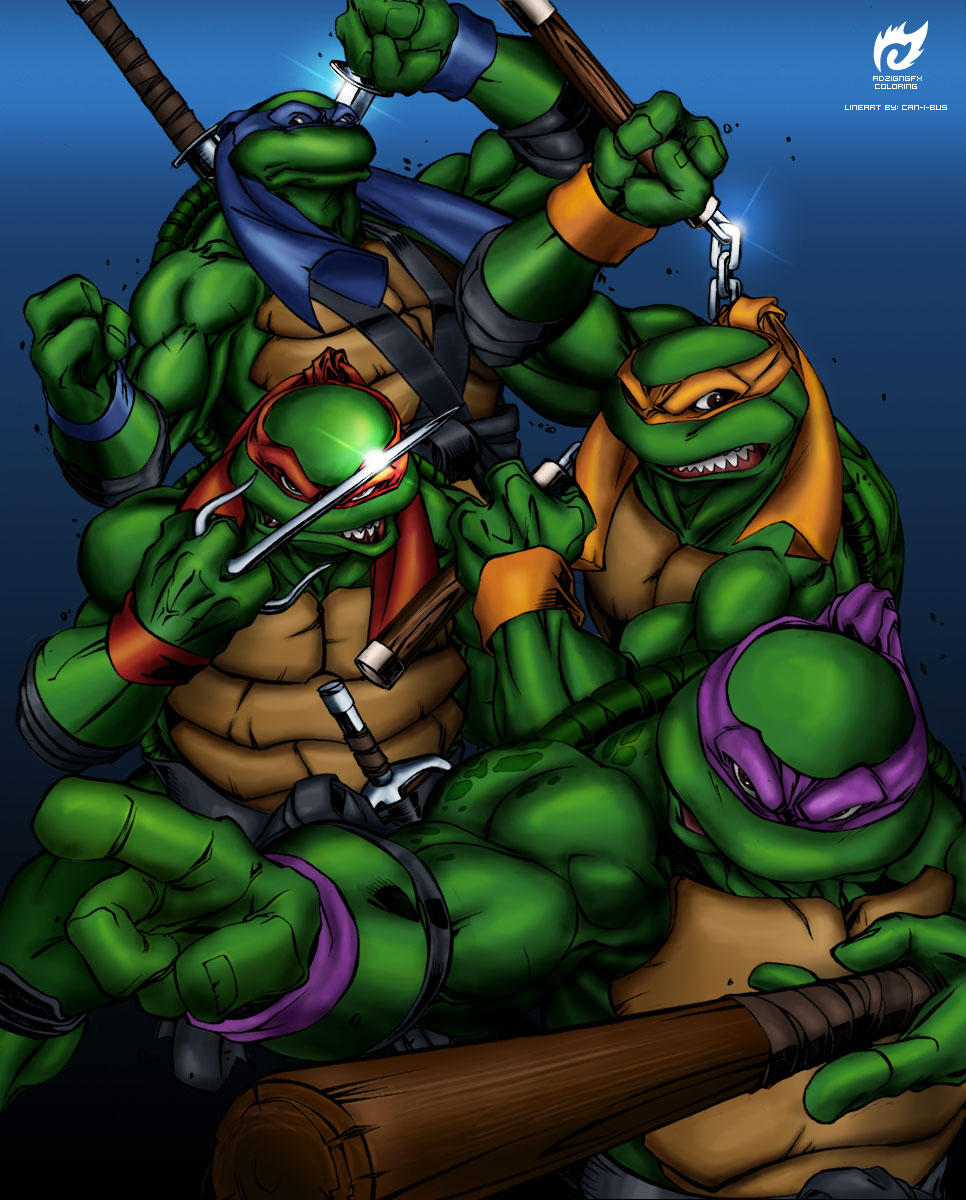 Ninja Turtles Wallpaper: Teenage Mutant Ninja Turtles By Adzign On DeviantArt