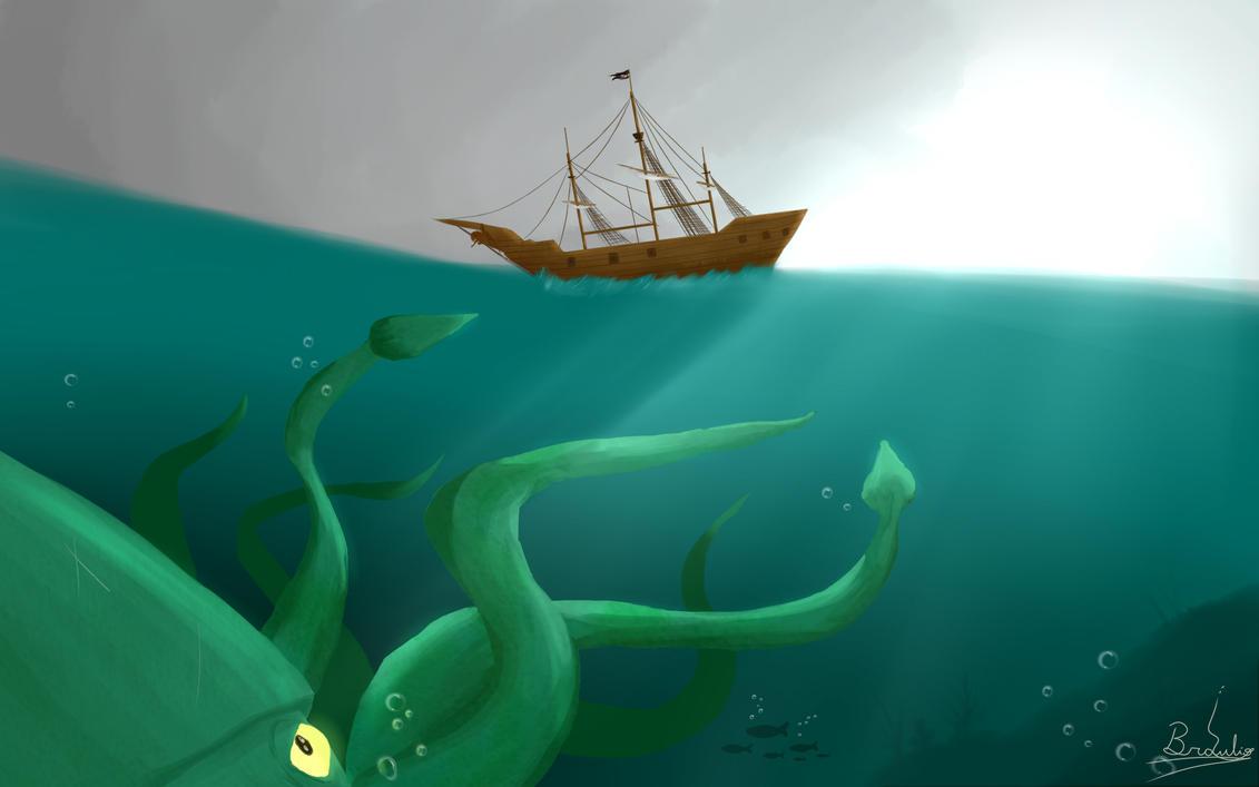 Ataque inminente del Kraken by Sodoow