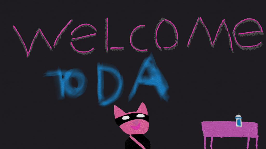 PNK welcome to DA by PinkNinjaKitty1