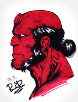 Inktober Day 6: Hellboy by Rali-95
