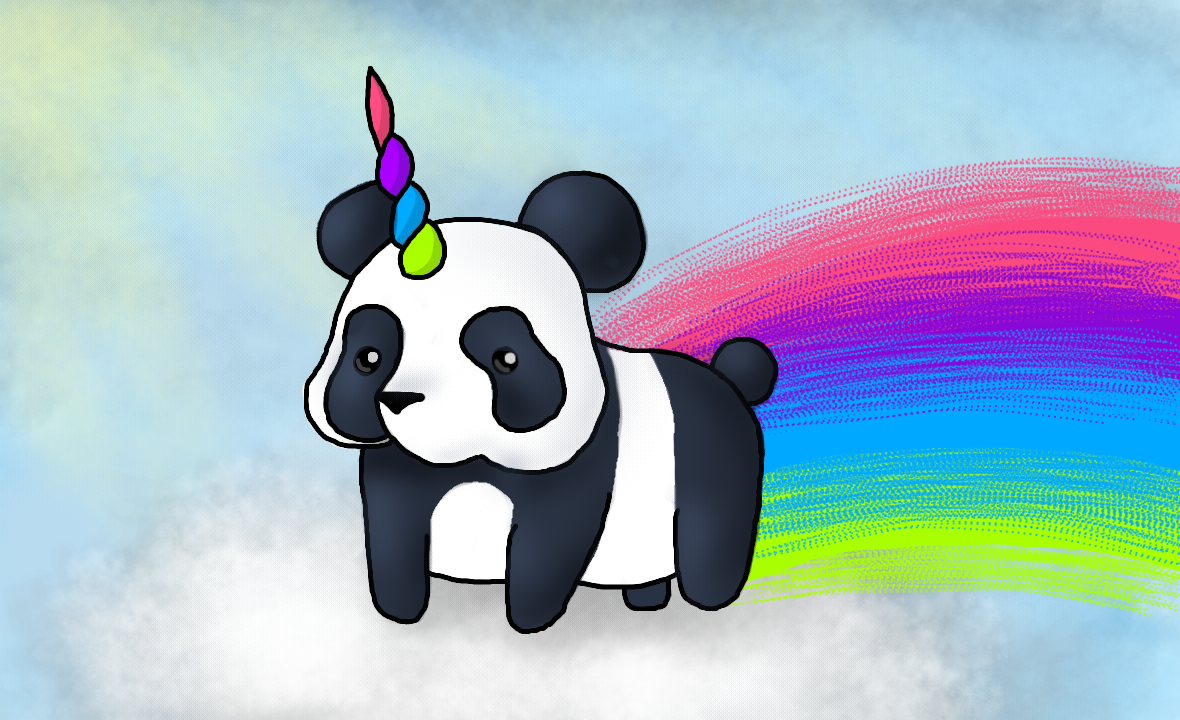 Panda Unicorn by Naftalina25 on DeviantArt