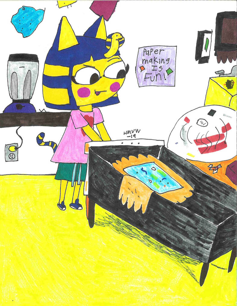 Paper-making at Ankha's by hmvw1996
