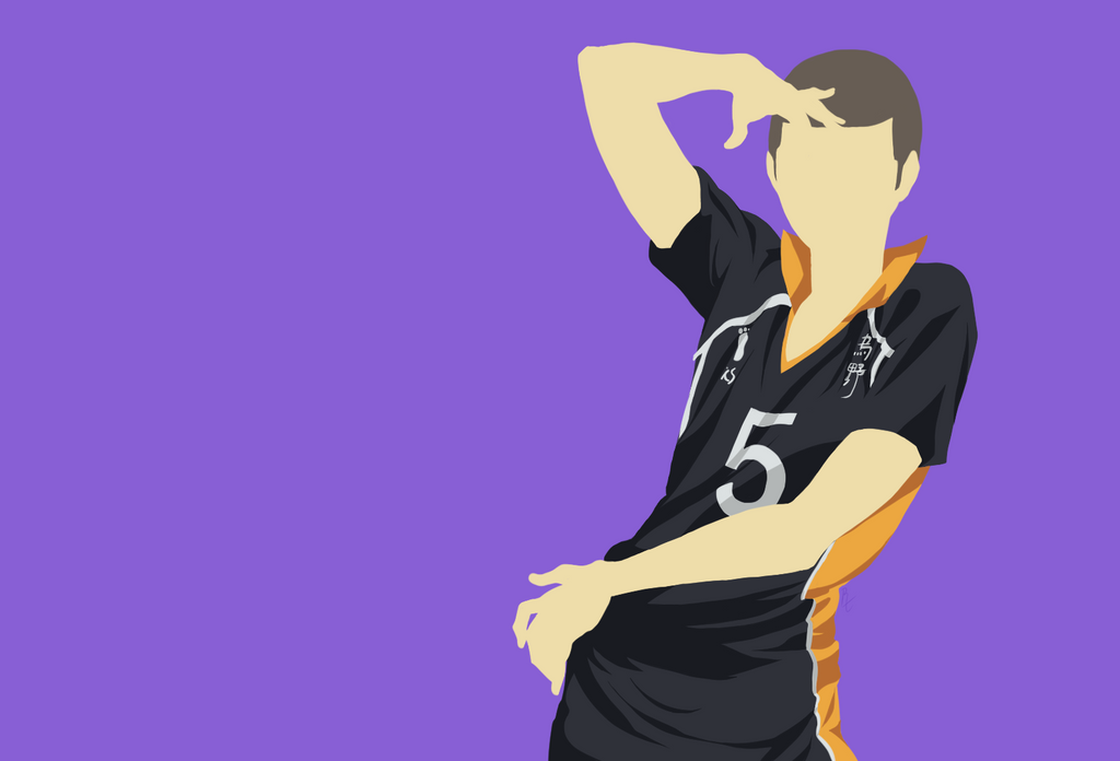 Haikyuu!Tanaka Minimalist Bakgroung/Wallpaper by RTx-G on ...