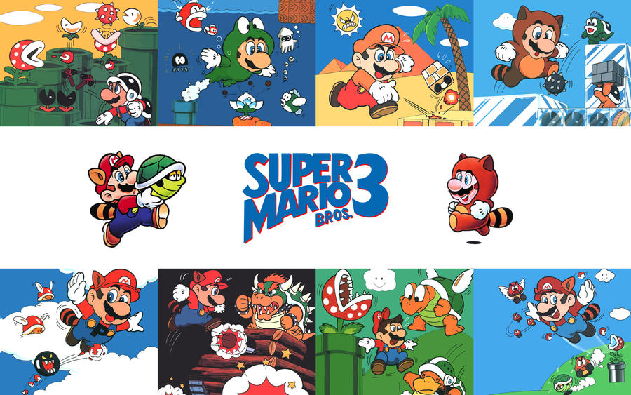 super mario bros 3 artwork