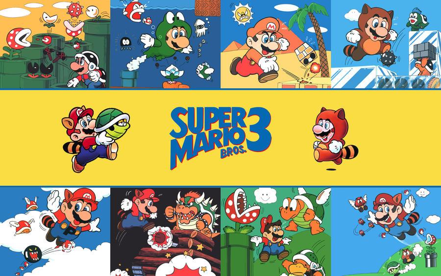 Super Mario Bros. 3 Wallpaper by FistfulOfYoshi