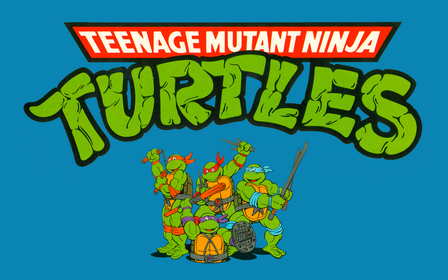 TMNT Cartoon Retro Wallpaper 1 By FistfulOfYoshi